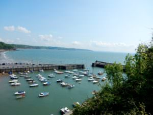 Non-Beach Path gives great view of Saundersfoot Harbor