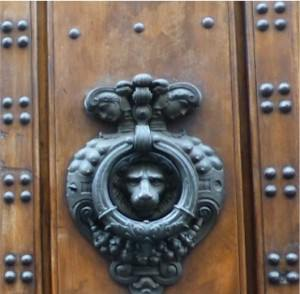 Ornate door and knocker