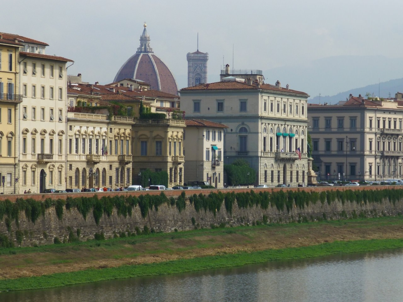 River view of church in Florence