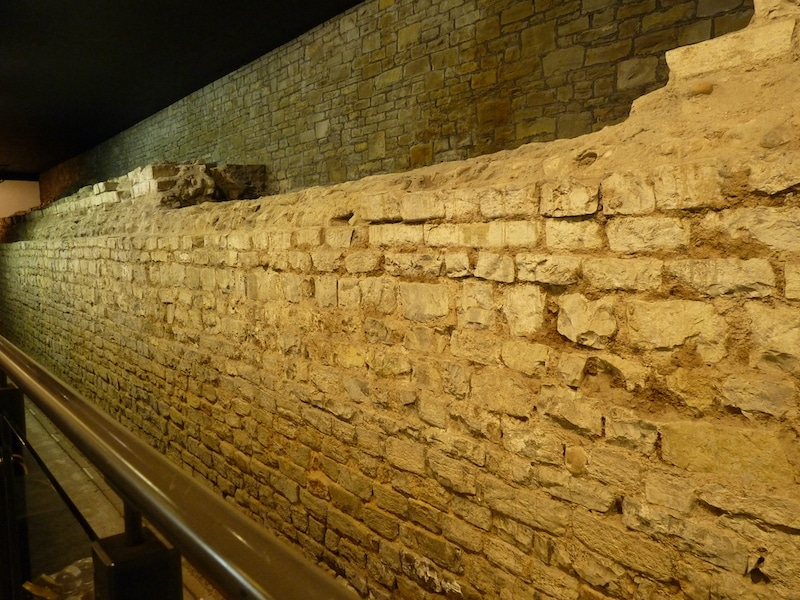 Ancient Roman Wall in Cardiff Castle