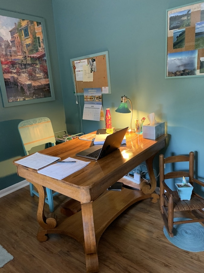 Antique Library Table as desk
