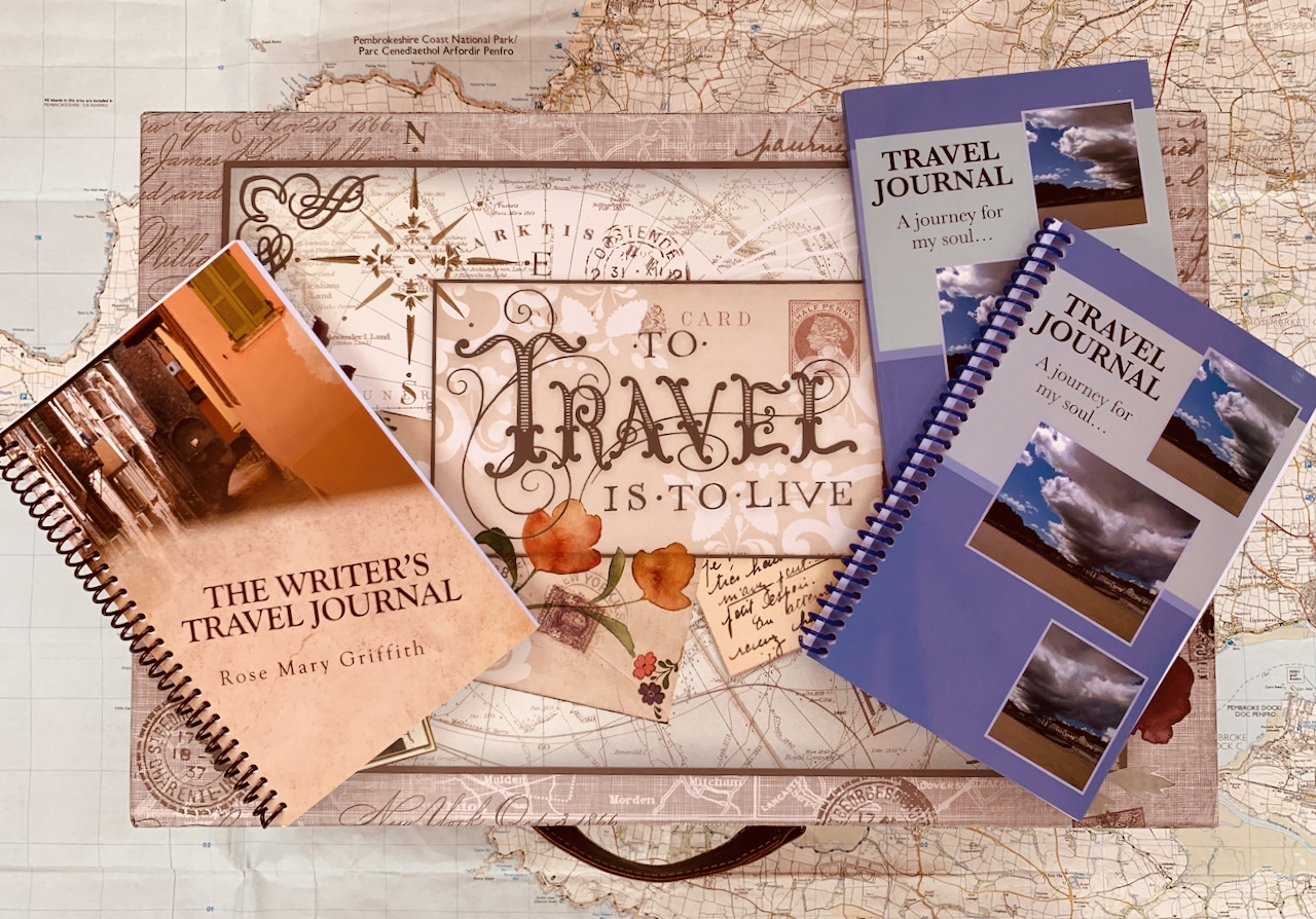 Travel Journals on a travel suitcase