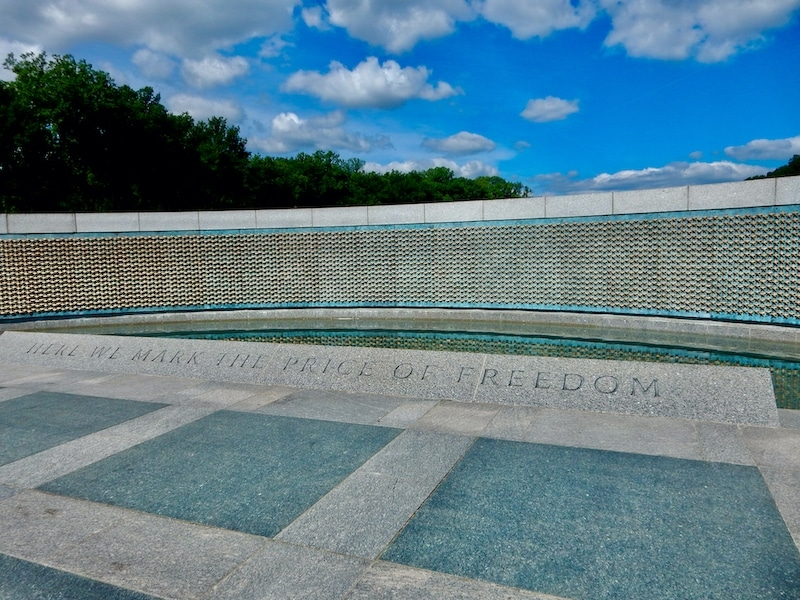 Gold Star wall at the WWII Memorial in Washington, DC
