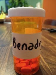 Benadryl bottle