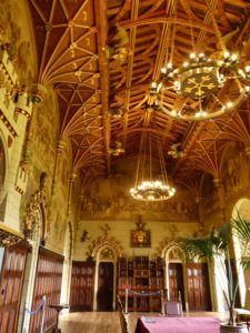 Ornate and vast Cardiff Castle Dining Room, Wales