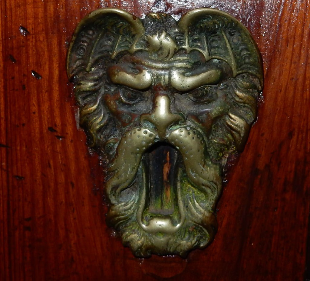 Frowning Lion or Bird key hole