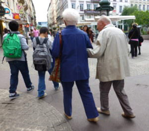 Couples - Help me along and home from school, Lyon, France
