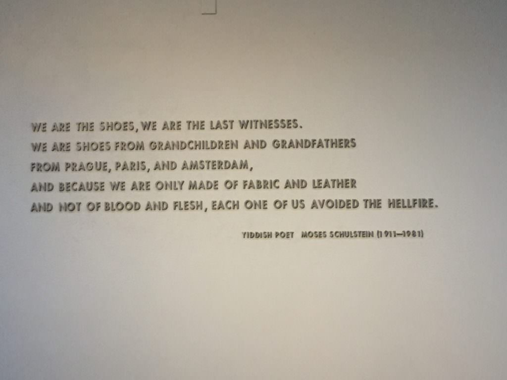 Holocaust Museum, quote by Moses Schulstein