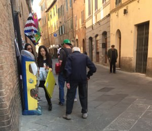 Elderly man in Siena