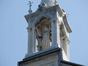 Lady of Montallegro Cathedral Statues on top
