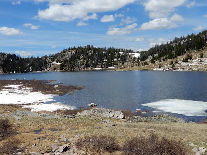 Ice floes on Long Lake, Beartooth Pass