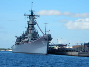 USS Missouri Battleship from The Arizona
