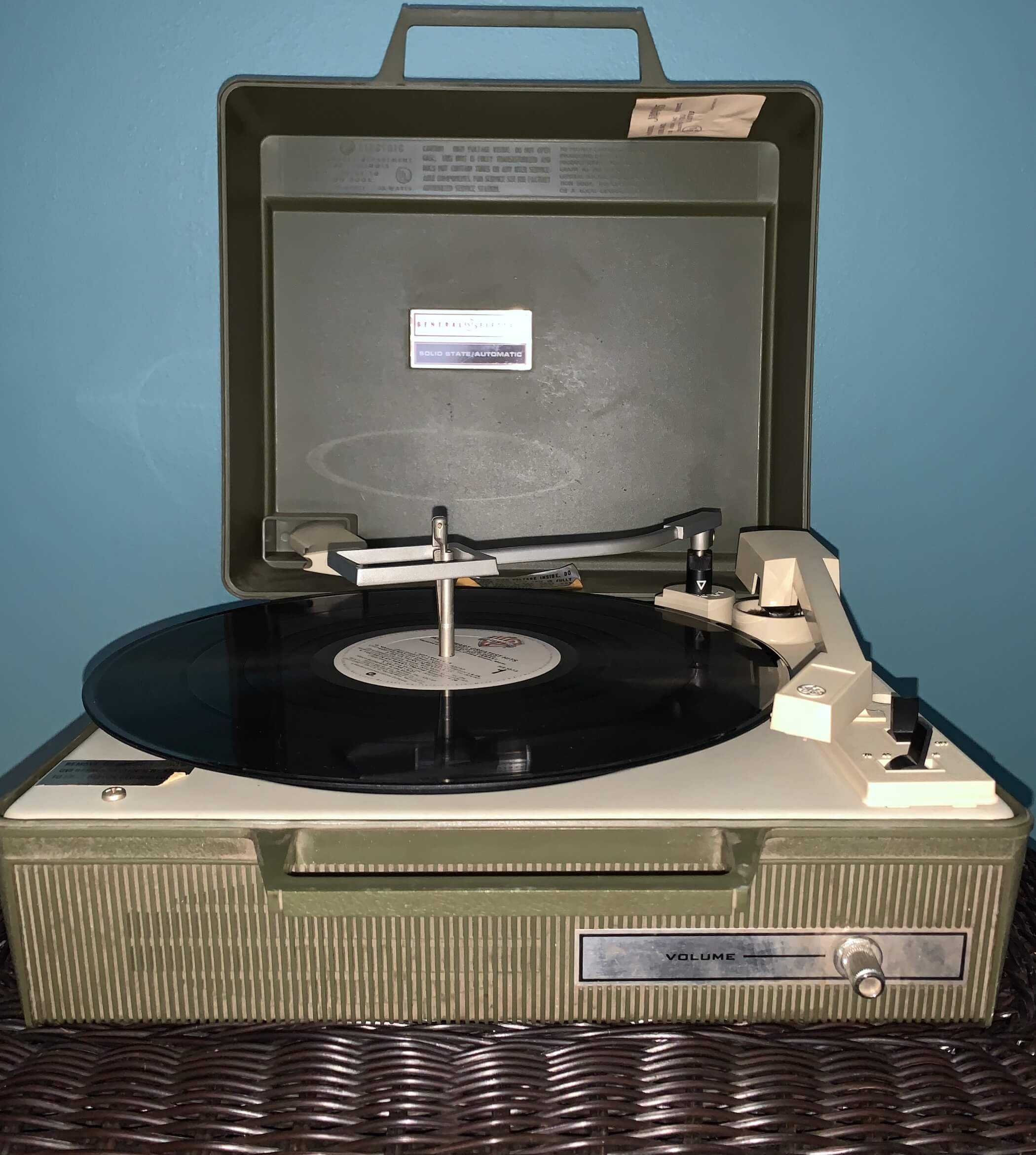 General Electric record player circa 1960s