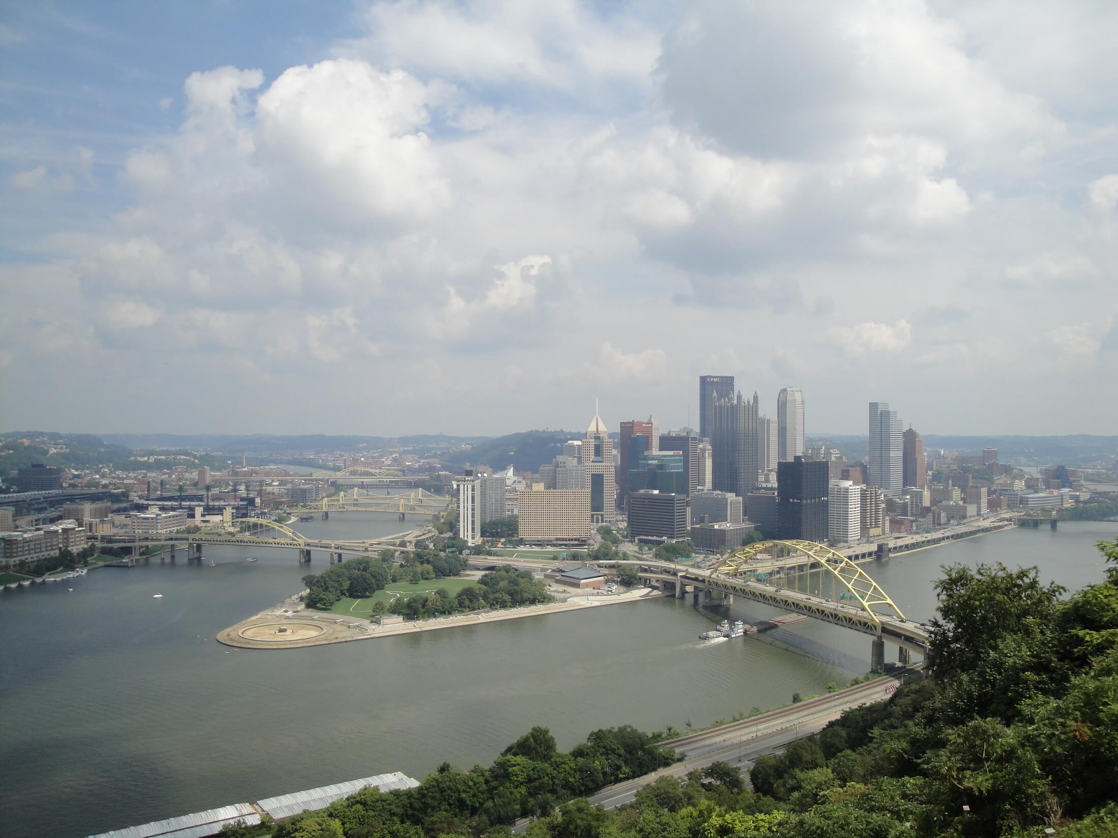 Pittsburgh Point from Duquesne Incline