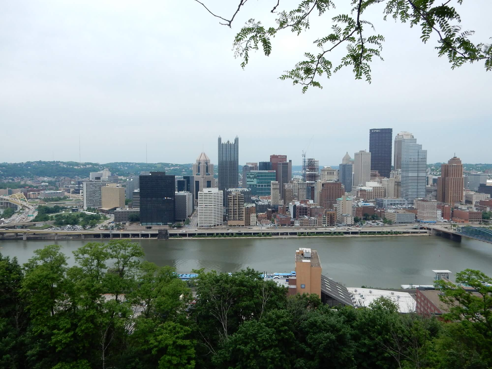 Downtown Pittsburgh from near Mt Washington