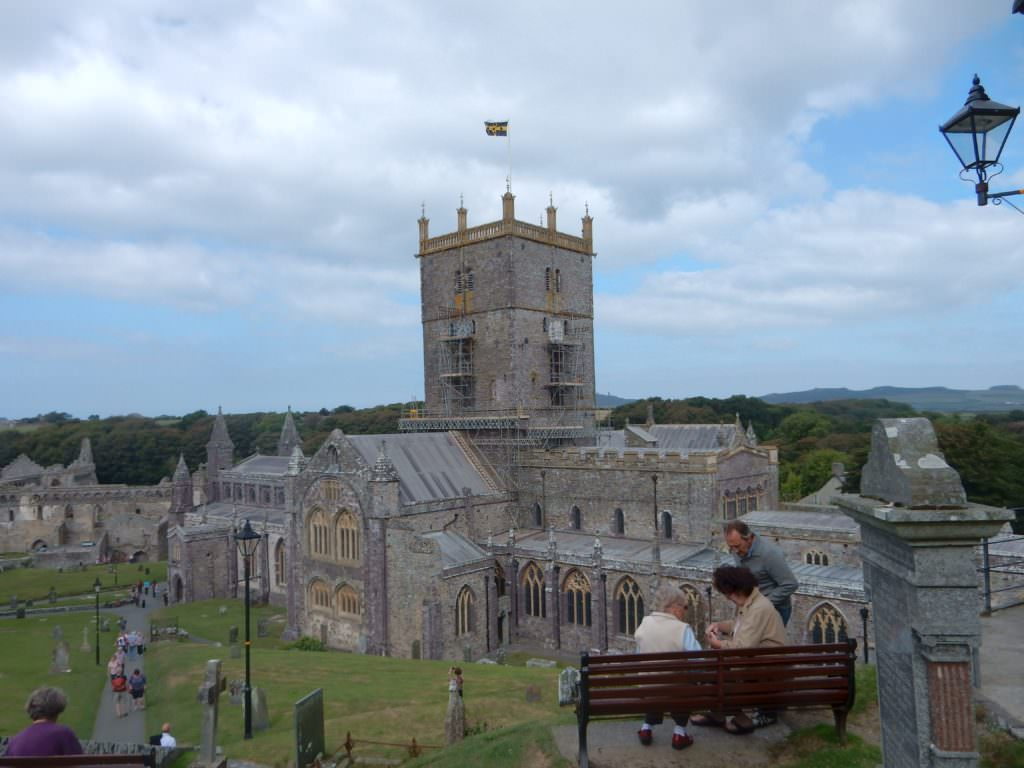 Hilltop view of St David's Cathedral
