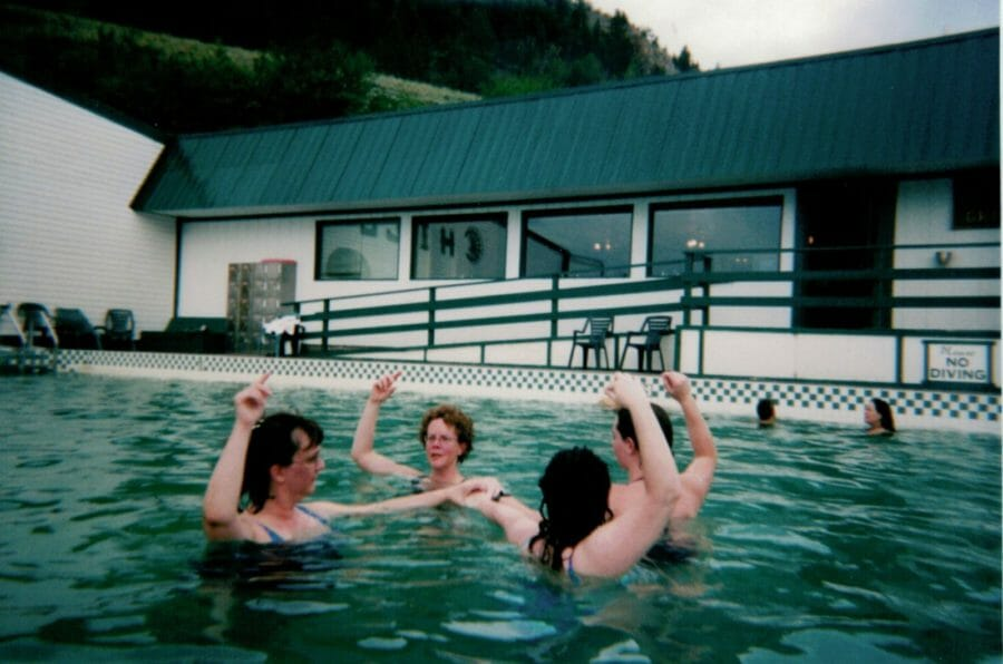 Women swimming in Chico Hot Springs