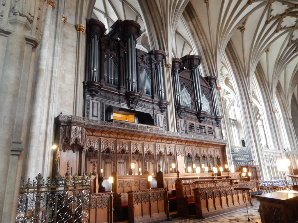 We sat on the far right-organ above