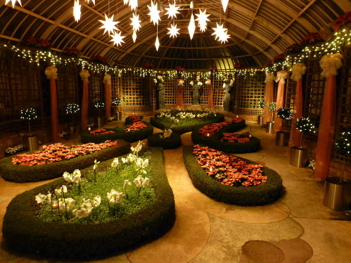 Broderie at night, Phipps Conservatory