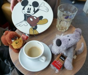 Burt & Muggins love coffee, too, especially in Brussels, Belgium.