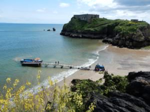 Tenby's moveable dock for Caldey Boats