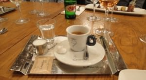 Prague coffee, always served with a small water.