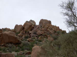 The rock climbing area--see pink, Arizona