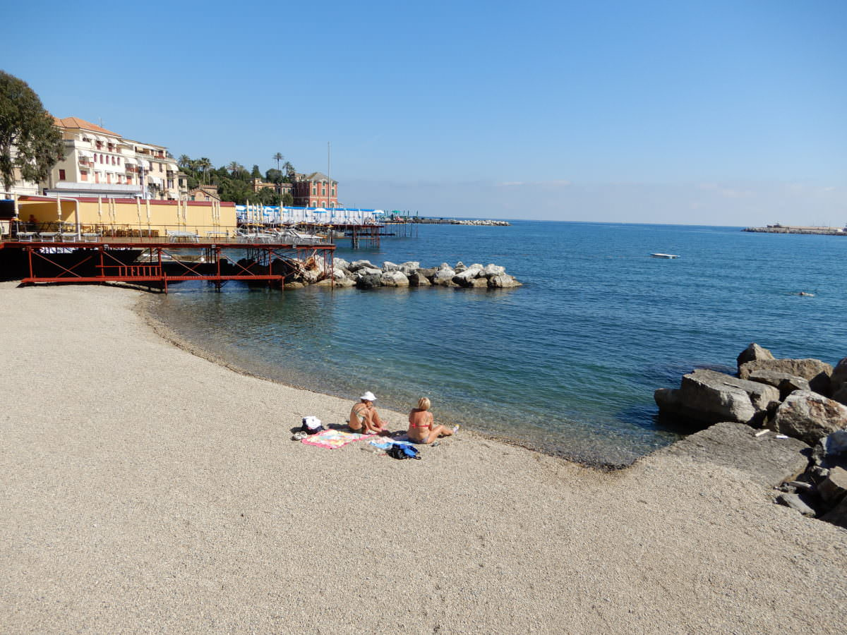 Two friends on a beach-Rapallo, Italy