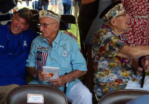 Veterans in great shirts