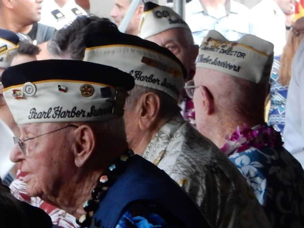 Veterans visiting