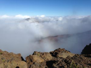 Vista and clouds at Haleakala National Park